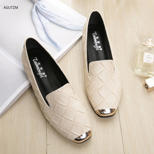 mljuese 2018 women flats brown color cow leather square toe flats spring comfortable oxfords women shoes size 34 43 office shoes Fashion Women Flats Shoes Square Toe PU Leather Shoes Women Loafers Woman Ballet Flats Boat Shoes Shallow Footwear 35-43 H23