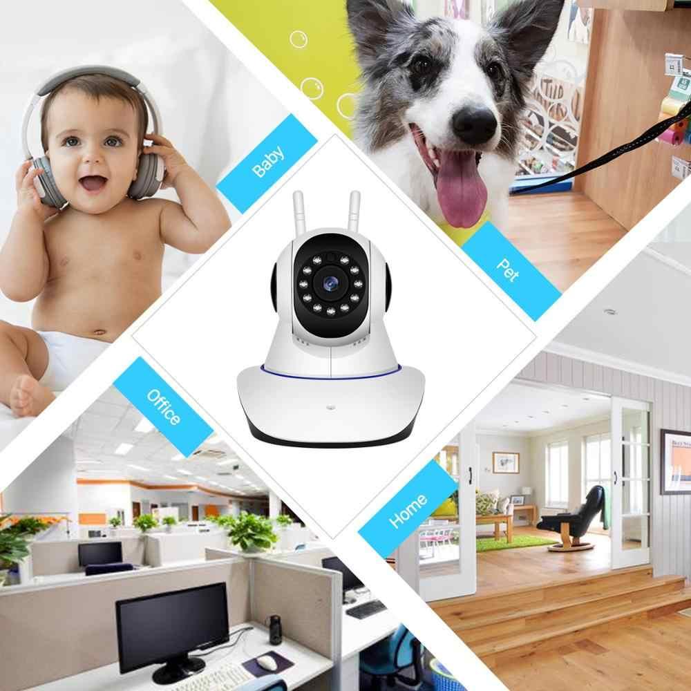 BESDER 720P 1080P H.265 bezpieczeństwo w domu kamery IP podwójna antena kamera WiFi zapis Audio 360 stopni niania elektroniczna Baby Monitor HD Mini kamera IP