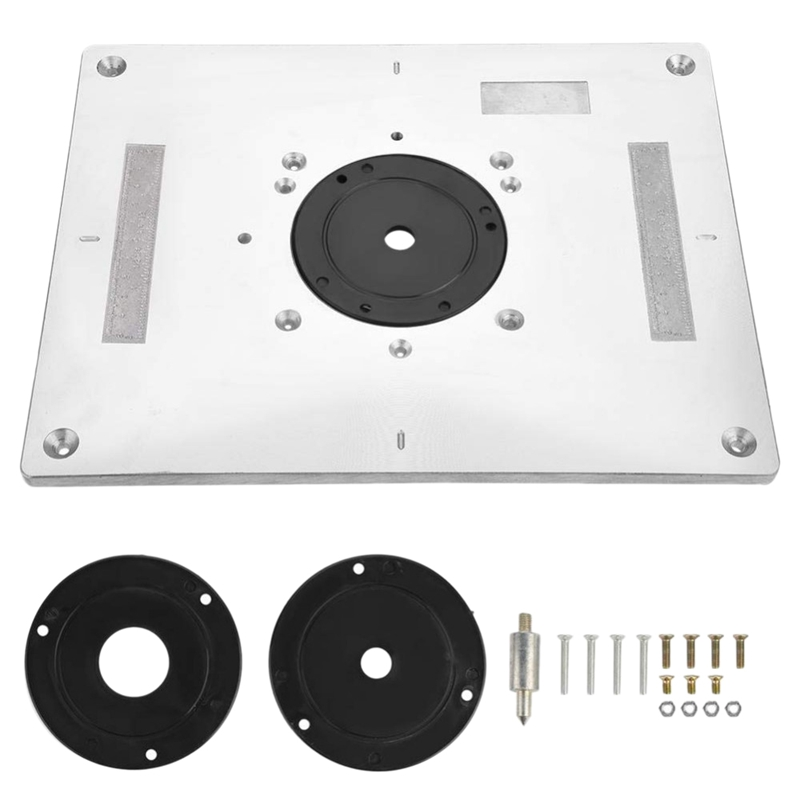 Multi Functional Aluminum Router Table Insert Plate Trimmer Engraving Machine Woodworking Bench Router Plate|Wood Routers| |  - title=