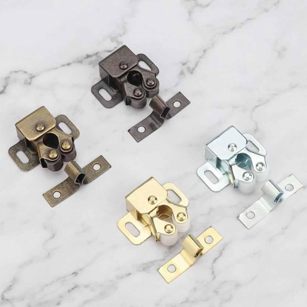 2Set Perangkat Keras Baru Fitting Furniture Kabinet Menangkap Pintu Damper Buffer Magnet Lebih Dekat