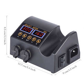 JCD 2 in 1 Hot Air Gun Rework Soldering Station 800W LCD Digital Electric Soldering Iron for Phone PCB IC SMD 8898 Welding Set
