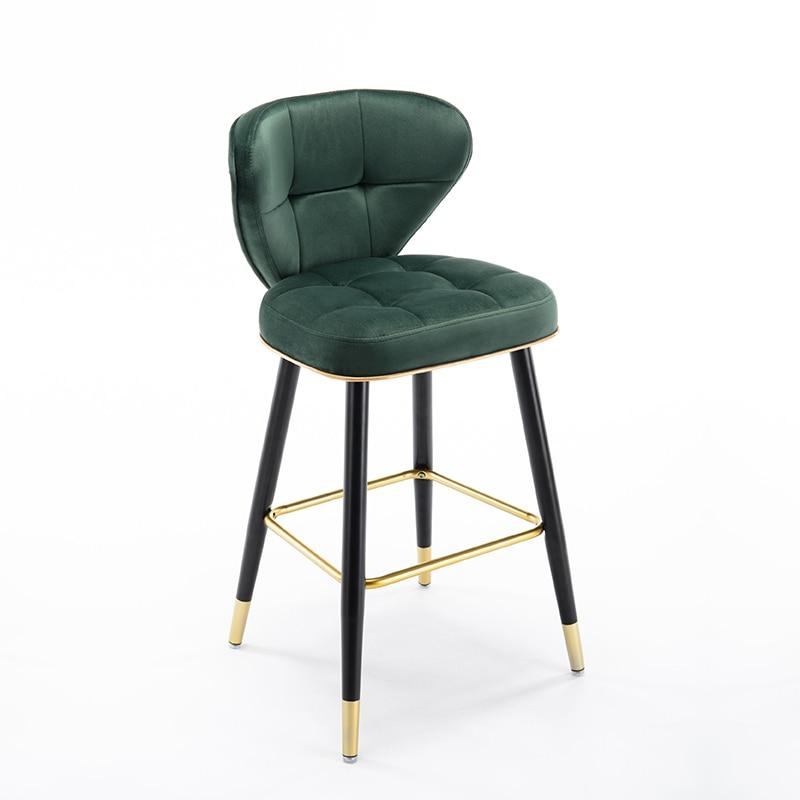 Light Luxury Bar Chair Home Island High Chair Stylish Iron Bar Chair Modern Simple Chinese High Stool