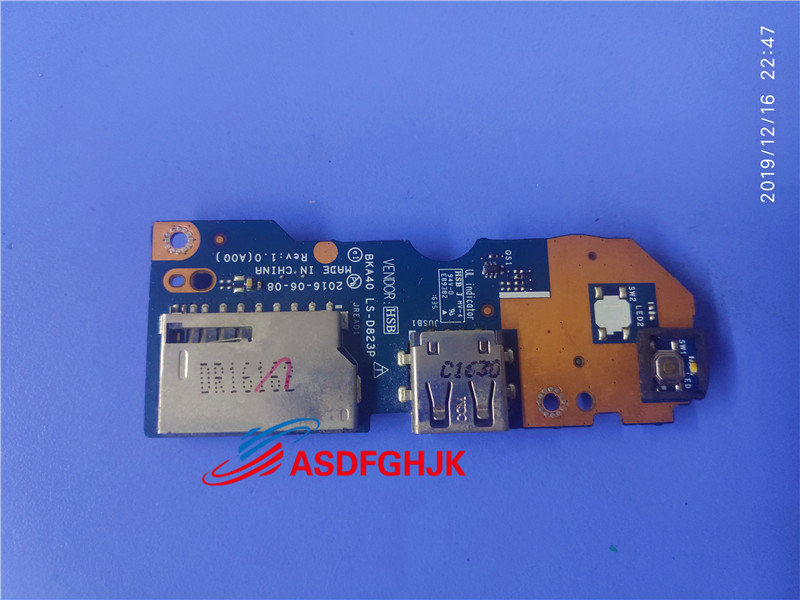 power botton Board IO USB board for <font><b>DELL</b></font> Inspiron 15 <font><b>7560</b></font> CN-06KTG3 6KTG3 06KTG3 LS-D823P 100% Perfect work image