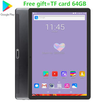 2020 Google Android Tablet 10 Inch 3G Telepon 32GB ROM + TF Card 64GB Dual Sim kartu 1280*800 IPS WiFi Tablet 10 10.1 GPS Pad(China)