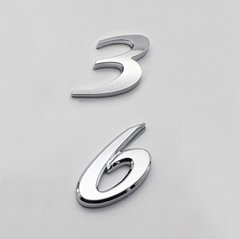 Хромированная эмблема с буквами и цифрами 3 и 6 для Mazda 3, Mazda 6, M3, M6, автомобильный Стайлинг, крепление на багажник, качественный значок из АБС-п...