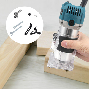 800W 30000rpm Electric Hand Wood Trimmer 6.35mm Laminator Router Woodworking Tool Set for Wood Palm Edge Router Trim Carpentry(China)
