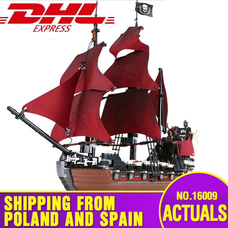 16009 Movie Toys Series The Legoing 4195 Queen Anne's Revenge Ship Kids Christmas Toys Gifts Model Toys Building Blocks Bricks