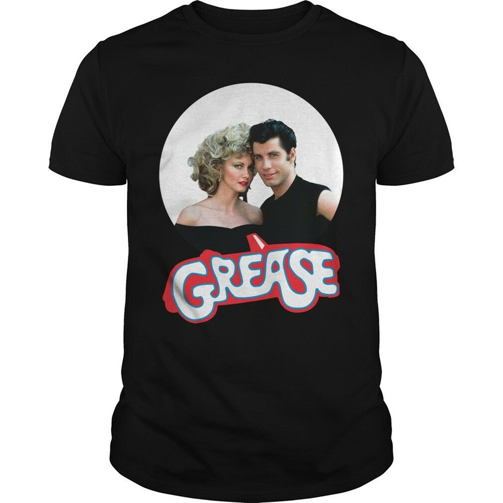 Sandy & Danny Grease Musical Movie T-Shirt Loose Size Tee Shirt image