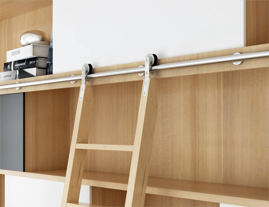 Stainless Steel Sliding Library Ladder Hardware Rolling Ladder Track(No ladder)