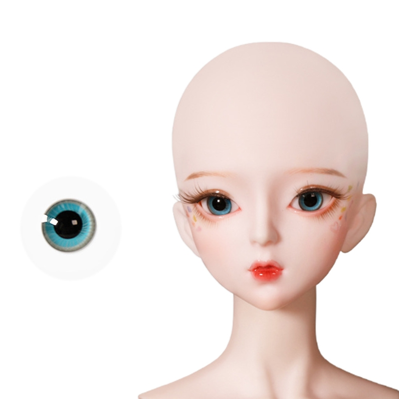 For Bjd Eyeball 14mm Glass Material Green Blue Eyes Suitable For 1/3 1/4 Doll Accessories 14
