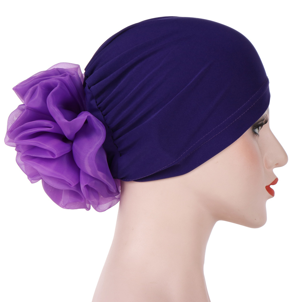 Women Floral India Hat Flower Stretchy Beanie Turban Bonnet Chemo Cap For Cancer Patients Ladies Bandanas African Head wrap NEW