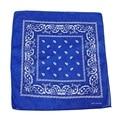 Топ!-сапфировый синий шарф бандана с квадратным черно-белым узором Пейсли узор с обеих сторон (сапфировый синий)