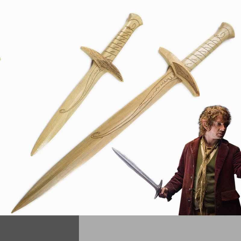 Bộ Phim Frodo Baggins Cosplay Thanh Kiếm Gỗ Vũ Khí Hóa Chống Đỡ Bộ Sưu Tập Cá Nhân