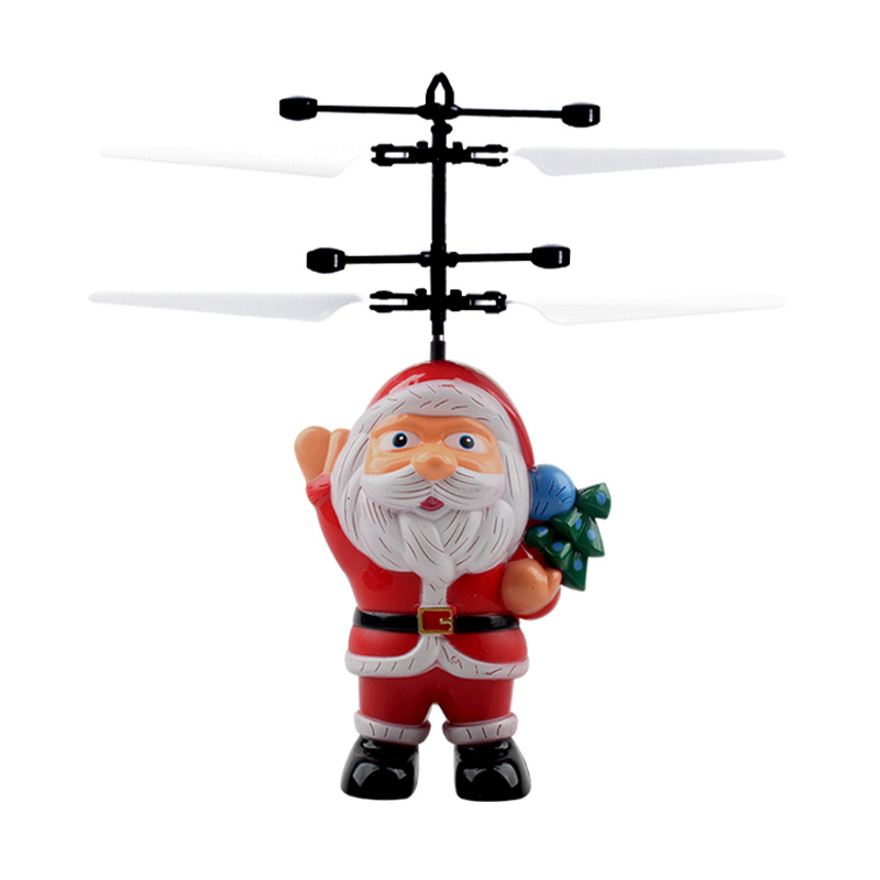 Mini Drone Santa Claus Flying Ball LED Luminous Balls Electronic Quadcopter Magic Sensing Helicopter Toys For Children Christmas