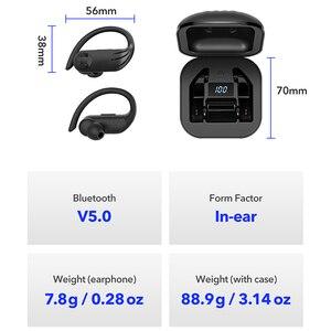 Image 5 - B1 TWS LED سماعات بلوتوث سماعة رأس لسماع الموسيقى الأعمال سماعة أذن واقي أذن رياضي الحد من الضوضاء يعمل على جميع الهواتف الذكية