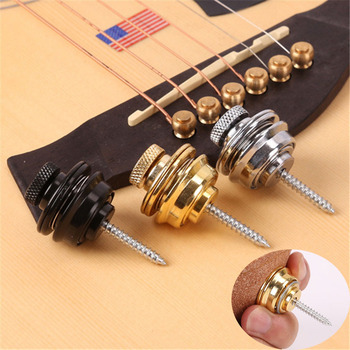 Guitar Strap Button Guitar Pegs Buckle Lock Pins Metal End Locking for Acoustic Electric Bass Ukulele Musical Accessories Parts metal guitar capo with bridge pin remover fit for acoustic electric guitar bass ukulele mandolin soprano concert tenor baritone