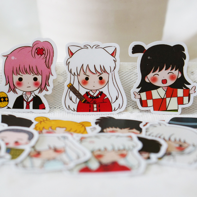 40PCS Cartoon Inuyasha Stickers Crafts And Scrapbooking Stickers Kids Toys Book Decorative Sticker DIY Stationery