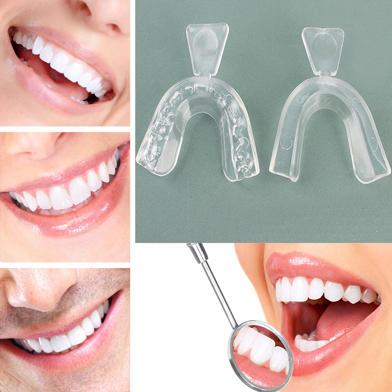 2Pcs Dental Mouthguard Thermoforming Care Oral Hygiene Bleaching Tooth Whitener Mouth Guard Teeth Whitening Trays Tool