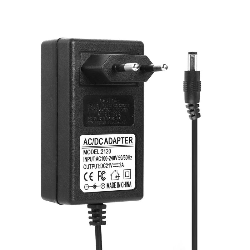 <font><b>21V</b></font> 2A EU US plug power <font><b>adapter</b></font> AC100-240V//50/60Hz for 18650 Lithium Battery Charger DC5.5mm Plug Power <font><b>Adapter</b></font> Charger image