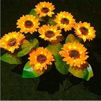 Luz Led impermeable para decoración de jardín, guirnalda de luces Led con forma de girasol para exterior, ideal para decoración de jardín y calle, luz Led Solar