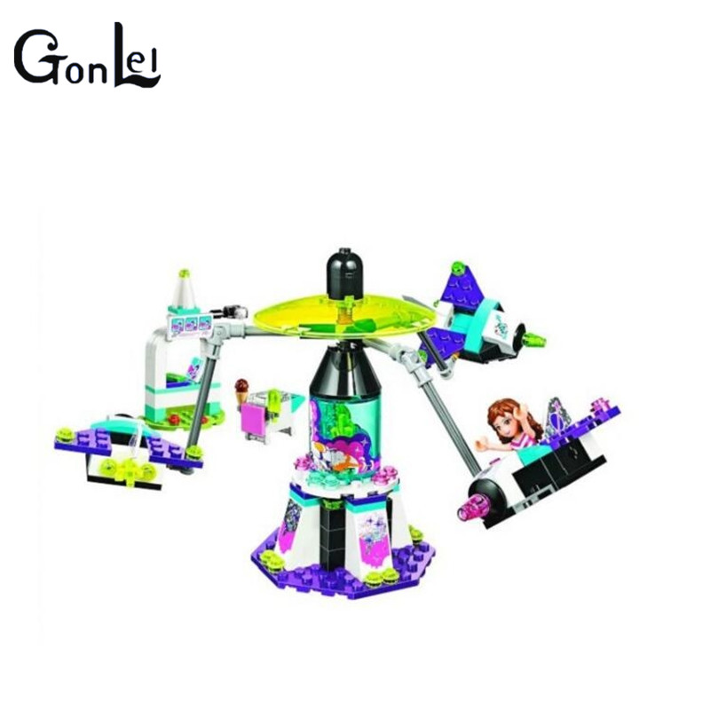 GonLeI BELA10556 197pcs Friends Space Ship Amusement Park Building Block 100% Compatible with Legoinglys Friends 41128 image