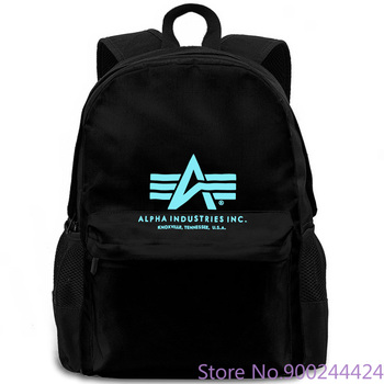 Alpha Industries Basic T Schwarz Fashion mochila Original, hombre