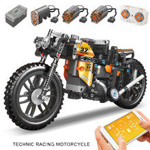 High-tech zmotoryzowany samochód szybki Model motocykla RC klocki montaż klocków motocyklowych dzieci kreatywne zabawki prezent na boże narodzenie