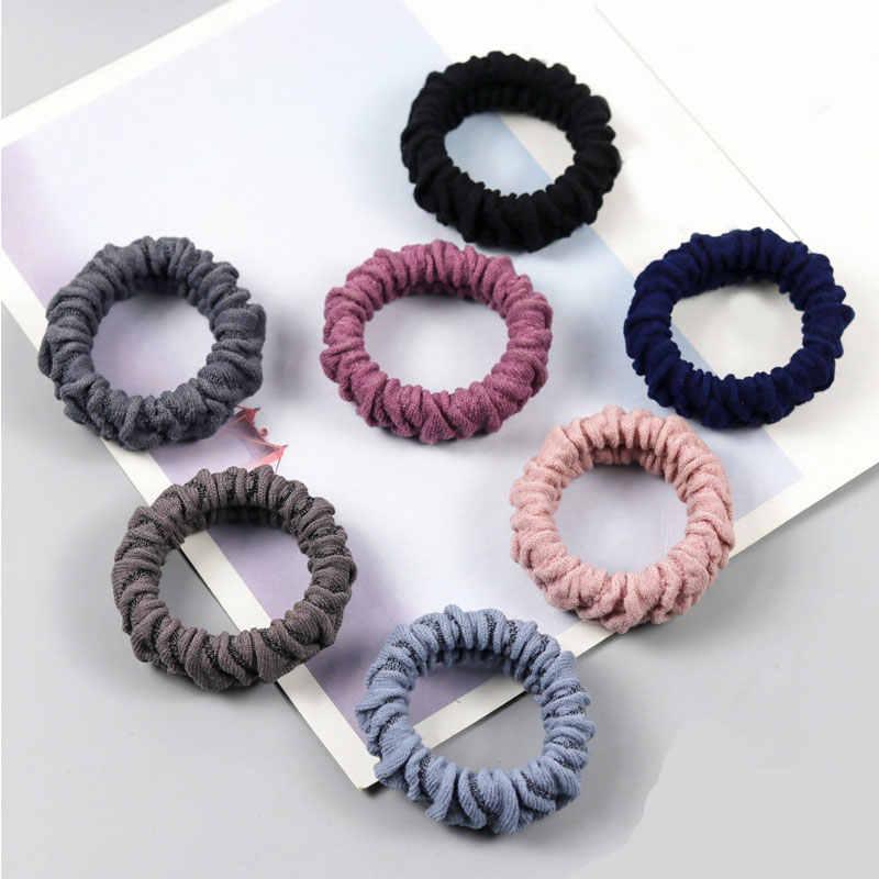 Gruba guma gumki do włosów kobiety Solid Color guma gumka do włosów wysoka elastyczna opaska do włosów Ladies Casual akcesoria do włosów