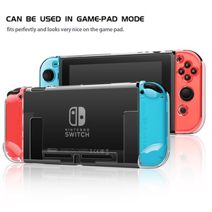 Image 1 - Dla Nintendo Switch przezroczysta kryształowa pokrywa Ultra cienka, odporna na wstrząsy konsola ochronna Coque odpinane twarde ochronne z poliwęglanu
