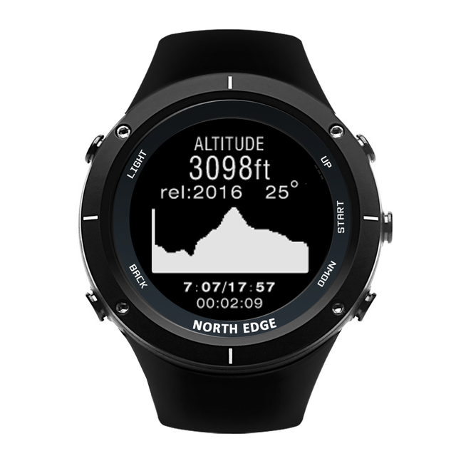 Smart watches Men outdoor sports watch waterproof 50m fishing GPS Altimeter Barometer Thermometer Compass Altitude NORTH EDGE 4