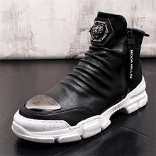 2019 Mens Winter Shoes Genuine Leather Erkek Bot Warm Botas Masculina 2#10/20f50