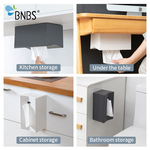 Image 2 - BNBS Kitchen tissue box Cover Napkin Holder For Paper Towels Boxes For Napkins Tissue Dispenser Wall Mounted Container For Paper