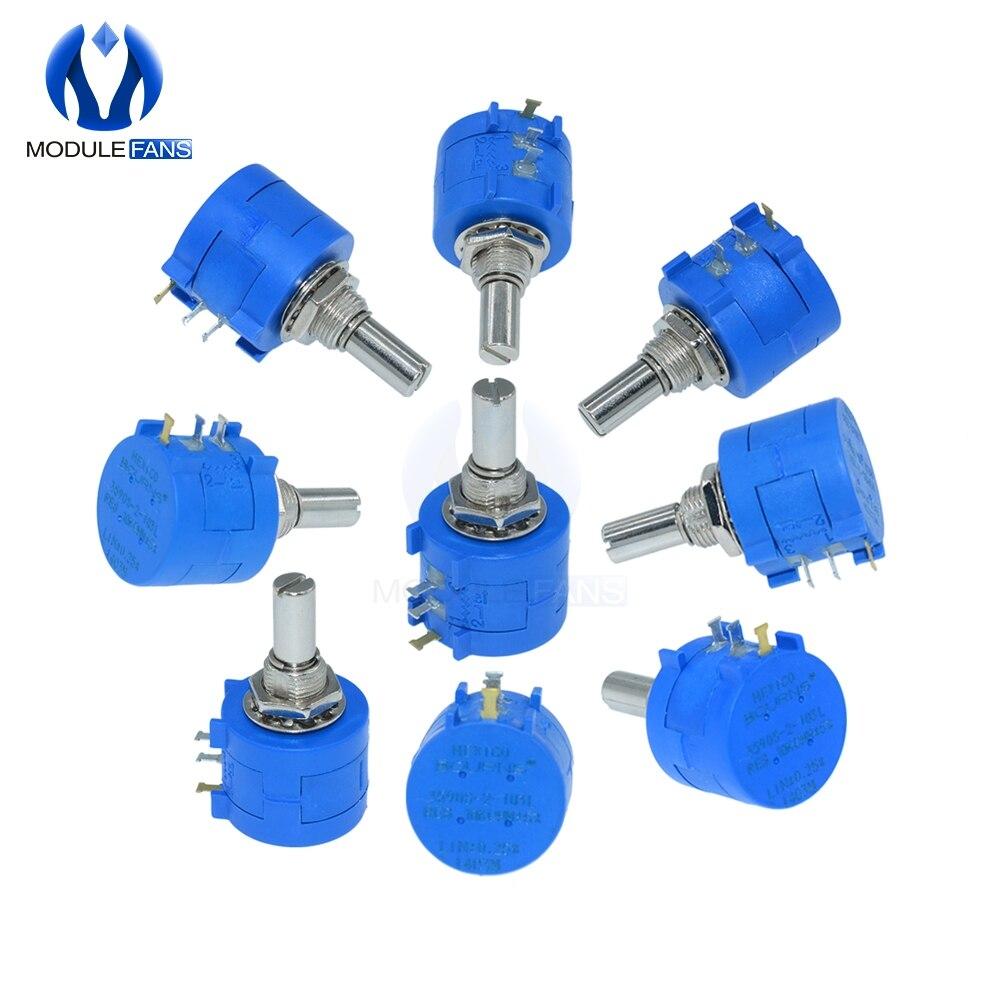 3590s-2-103l 3590 s 500r 1 k 2 k 5 k 10 k 20 k 50 k 100 k ohm potenciômetro multiturn de precisão 10-gira resistor ajustável rotativo
