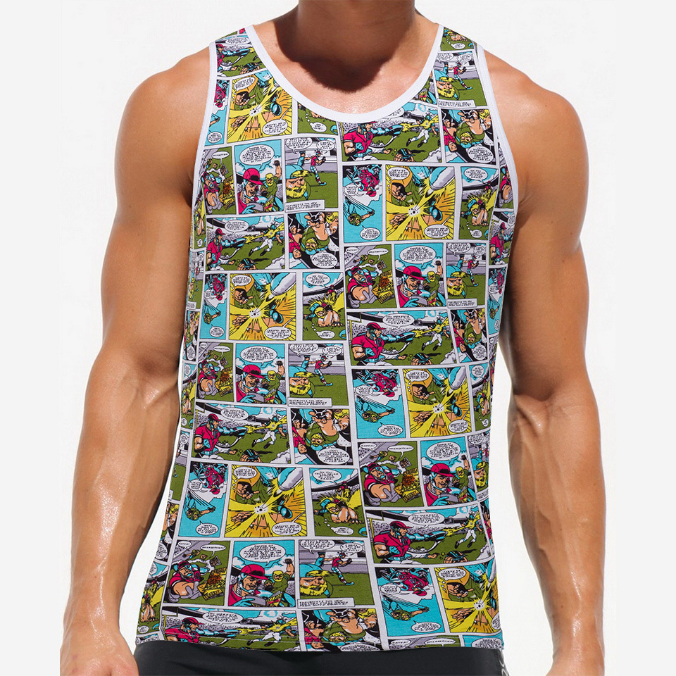 Men Sxey Tank Top Fitness Mens Casual shirts Sleeveless Undershirts Man Tank Tops vest Stringer Singlets