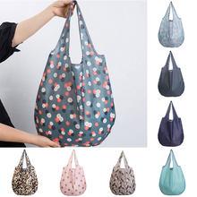 Falten Tasche Cartoon Flamingo Lagerung Einkaufstasche Reusable Umweltfreundliche Lebensmittel Bequem Tote Tasche Einkaufstasche Taschen Herz