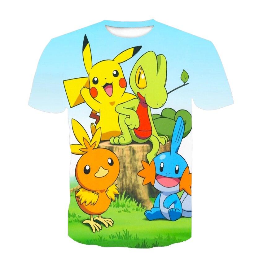 New 2021 Kids Boys and Girls Short Sleeved Yellow Pickup Animals 3D New Printed Dynamic Cute T-Shirt 3D Printed T-Shirt