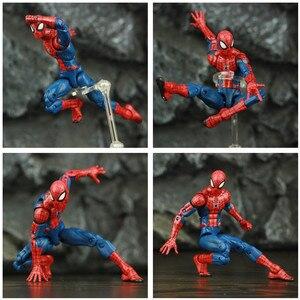 "Image 5 - Spider Peter Parker 6 ""Action Figure Classic Doek T shirt Jeans Ko S Ml Legends Comic Pizza Avenger Vader Man speelgoed Pop Model"