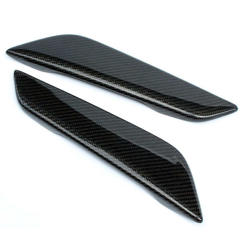 Car Styling Side Wing Air Flow Intake Cover Trim Chrome Carbon Fiber Style Decor Hood Badge for Bmw 5 Series G30 G31 2017 2018|Bug Shields| |  - title=
