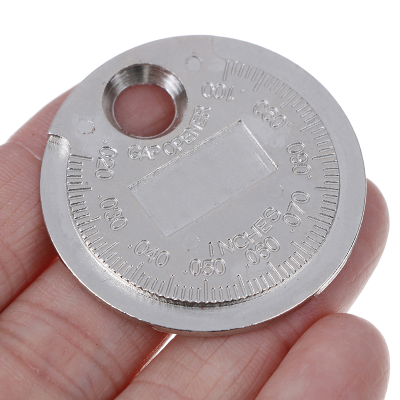 Novo 1pc spark plug gap calibre ferramenta de medição tipo moeda 0.6-2.4mm escala spark plug calibre calibre ferramenta de medição