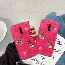 Pluche Lam Als Rose Rode Beer Telefoon Case Voor Oneplus 9 8 7 Pro 6 5 3 Grappige Zachte Gevallen voor Een Plus Nord Z 8T 7T 6T 5T 3T Covers