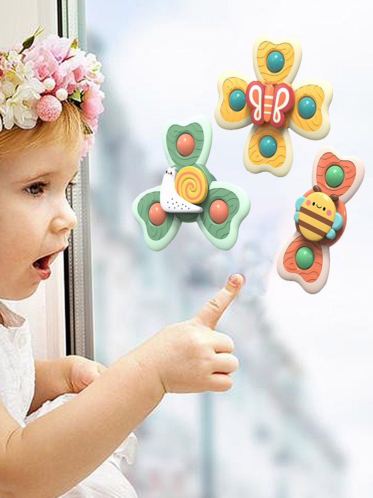 Spinning-Toy Windmill Suction-Cups Stress Baby Decompresssion with Toys 3pcs/Set Bath img3