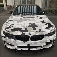 Black White Camo Vinyl Film Snow Camouflage Vinyl Car Wrap With Air Bubble Free Self Adhesive Car Sticker Decal Wrapping
