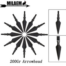 3/6/12pcs 200Gr Archery Broadheads Traditional Hunting Arrow Tips Target Point Arrowhead Shooting Arrow Shaft Accessories верхний душ hansgrohe raindance 30 27492000 хром
