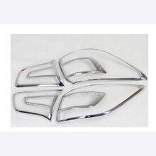 цена на Free shipping ABS Chrome Rear Tail Light Lamp Cover Trim 2Pcs/Set For 2010 2011 2010