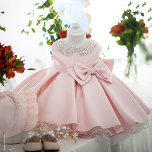 Детское платье для маленьких девочек, 2020 бальное платье, платье для дня рождения, Одежда для новорожденных платье принцессы с бантом вечерн...