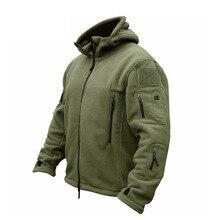 ZOGAA Men Military Bomber Jacket Coat Fleece Tactical Overcoat Male Outdoor Hood
