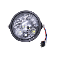 5.75 Inch Head Light Lamp Led Retro Refitted Head Light Lamp with Turn Signal Single Wick