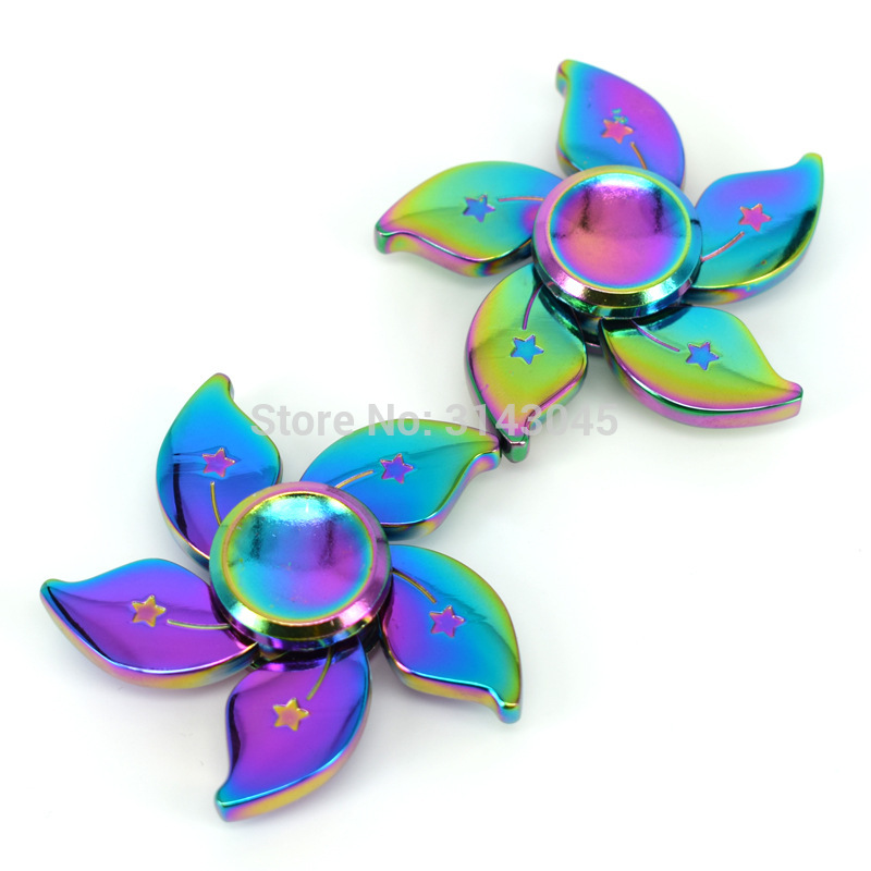 Colorful Bauhinia Flower Beyblade With Gift Box Hand Fidget Metal Spinner Anti Stress Toys Christmas Baby Birthday Gifts