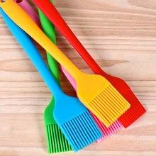 Силиконовые мягкие прочные экономические щетки для барбекю, масляная щетка, инструмент для выпечки, посуда для выпечки, для микроволновой печи, торта, кухни, барбекю