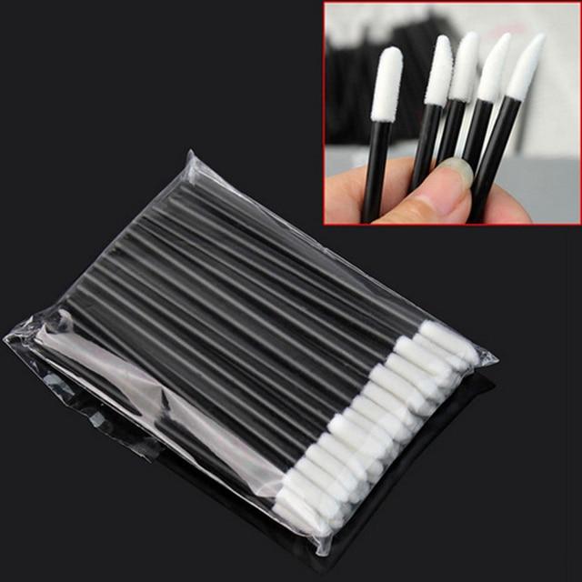 50 Pcs Disposable Lip Brush Eyelash Makeups Brushes Lash Extension Mascara Applicator Lipstick Wands Sets Cosmetic Makeup Tools 1
